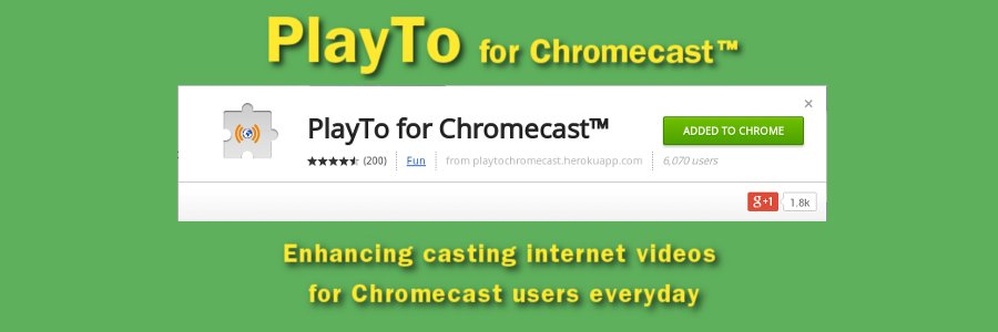 "Congratulations to the users of ""PlayTo for Chromecast"" because of the 200 reviews with 4 an a half stars"